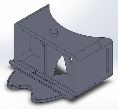Final 3D model, front side view