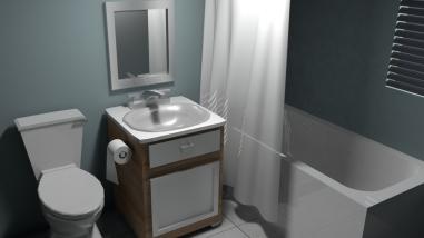 Final render pass of bathroom - left angle