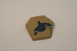 Orca plate, experimentation with silk screening