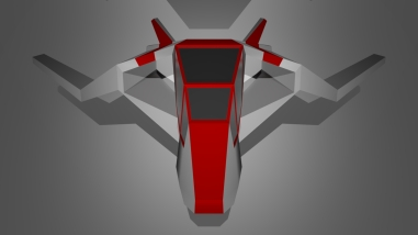 Spaceship - front view